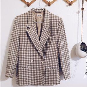 Talbots plaid vintage blazer